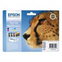 Pack de 4 cartouches d'encre originales  -  EPSON T0715  -  noir + 1 cyan + 1 magenta + 1 jaune  -  (C13T07154010)