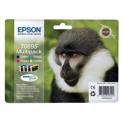 Pack de 4 cartouches d'encre originales - EPSON T0895 - noir + 1 cyan + 1 magenta + 1 jaune - (C13T08954010)