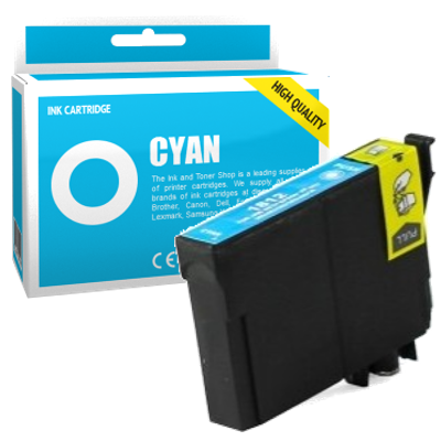 Cartouche d'encre compatible - EPSON 18XL - cyan - (C13T18124010) - grande capacité