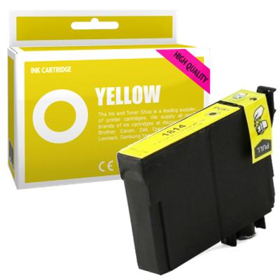 Cartouche d'encre compatible - EPSON 18XL - jaune - (C13T18144010) - grande capacité