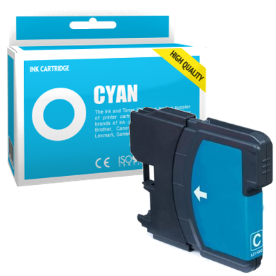 Cartouche d'encre compatible - BROTHER LC980 - cyan - (LC980-C)