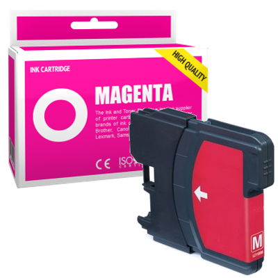 Cartouche d'encre compatible  -  BROTHER LC980  -  magenta  -  (LC980-M)