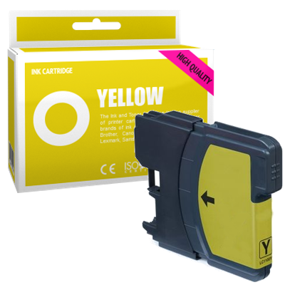 Cartouche d'encre compatible - BROTHER LC980 - jaune - (LC980-Y)