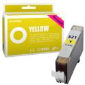 Cartouche d'encre compatible  -  CANON 521 Y/CLI521Y  -  jaune  -  (2936B001)