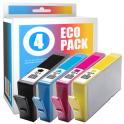 Pack de 4 cartouches d'encre compatibles  -  HP 364XL  -  noir + cyan + magenta + jaune  -  (SM596EE)  -  grande capacité