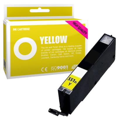 Cartouche d'encre compatible - CANON 551XL/CLI551YXL - jaune - (6446B001) - grande capacité