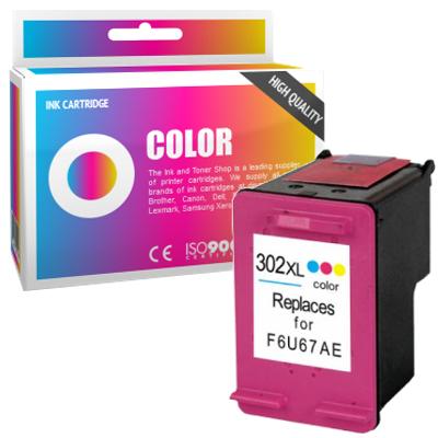 Cartouche d'encre compatible - HP 302XL - couleur - (F6U67AE) - grande capacité