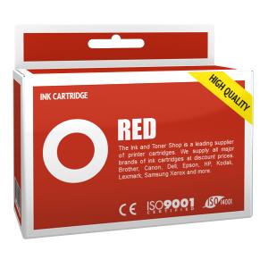 Cartouche d'encre compatible - CANON 6/BCI6R - rouge - (8891A002)