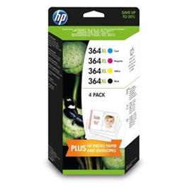 Pack de 4 cartouches d'encre originales - HP 364XL - noir + cyan + magenta + jaune - (N9J74AE) - grande capacité