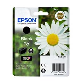 Cartouche d'encre originale - EPSON 18 - noir - (C13T18014012)