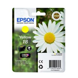 Cartouche d'encre originale - EPSON 18 - jaune - (C13T18044012)